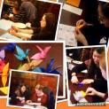 WLP mentees folding cranes